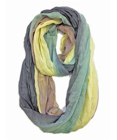 Love this Taupe & Black Infinity Scarf by East Cloud on #zulily! #zulilyfinds