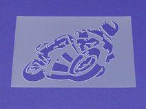 Schablone Motorrad Rennfahrer Racing - MA69