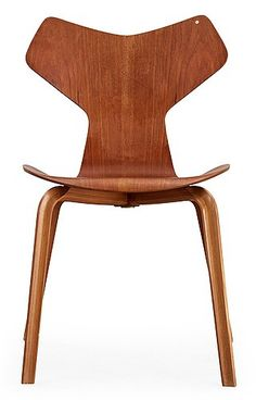 An Arne Jacobsen 'Grand Prix' teak chair, Fritz Hansen, Denmark - Bukowskis Arne Jacobsen, Fritz Hansen, Grand Prix, Chair Design, Furniture Design, Plywood Furniture, Teak, Danish Interior, Design Typography