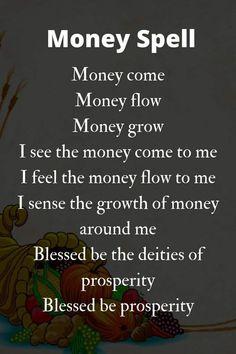 Powerful Money Spells, Money Spells That Work, Good Luck Spells, Easy Spells, Witchcraft Spell Books, Witch Spell Book, Hoodoo Spells, Magick Spells, Wiccan Quotes