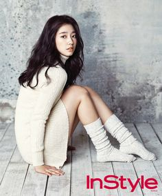 "Park Shin Hye and Yoon Si Yoon for the January 2013 issue of ""Instyle' Magazine. Park Shin Hye, Gwangju, Korean Women, Korean Girl, Korean People, Asian Woman, Asian Girl, Asian Ladies, Socks Outfit"