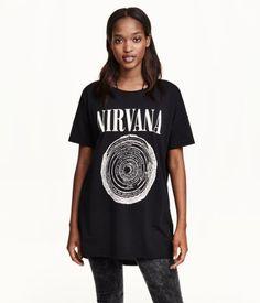Long T-shirt | H&M US  Nirvana