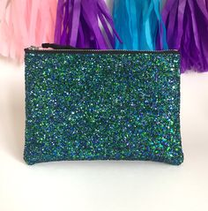 Mermaid Purse, Glitter Coin Purse, Mermaid Glitter Clutch Bag, Glitter Coin Purse, Oyster Card Holder, Glitter Wallet, Bridesmaid Clutch by kaykayteeUK on Etsy
