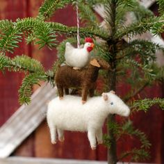 Needle Felted Christmas Ornament...okay. THESE look like me. I am pretty sure I need several of these.