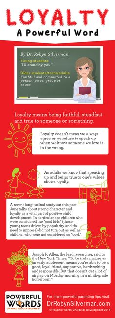 Loyalty--A Powerful Word #characterdevelopment #powerfulwords #drrobyn