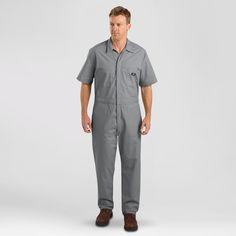 Dickies Big & Tall Short Sleeve Coverall- Gray M Tall