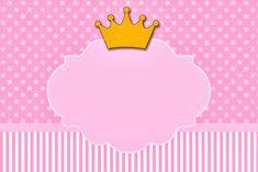 Coroa Princesa - Kit Completo com molduras para convites, rótulos para guloseimas, lembrancinhas e imagens!