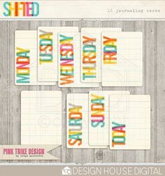 Shifted - This Week Journaling Cards - Elements  By Robyn Meierotto  $2.09