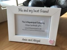 Handmade-childrens-photo-frame-Me-and-my-best-Friend