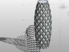 revit Faceted Curtain - Google Search Architecture Program, Parametric Architecture, Parametric Design, Grasshopper Images, Concrete Cladding, Cladding Panels, Glass Structure, Design Process, Facade