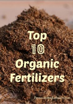 Top 10 Organic Fertilizers