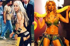 Pin for Later: Oops, We Did It Again . . . 31 Millennial Costumes That Are So Fetch Britney and XTina: The Inspiration During their naughty phases, Britney Spears and Christina Aguilera turned heads in these iconic outfits.
