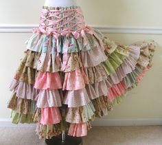 FAIRY RAINBOW SKIRT HANGING IN THE CLOSET.