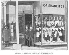 Gentleman's Furnishing House, C.R. Shane & Co.,Goderich, Ontario c. 1897 #Goderich #RediscoverGoderich #VintageGoderich