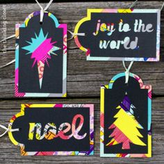 Colorful Washi Tape Gift Tags | Ideas For Fun and Creative DIY Christmas Gift Tags