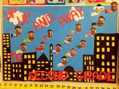 End of Year Bulletin Board: Superhero