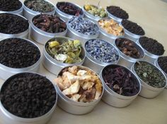 You can now make your own healthy herbal tea!    This kit includes 20 glass top containers (33 mm) filled with Lavender(2), Chamomile(2),