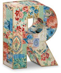 """Garden Party Decorative Letter """"R"""" Storage Box With Magnetic Closure"""