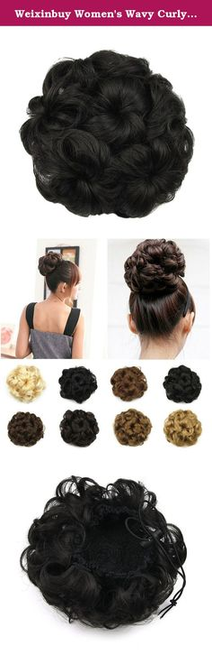 """Weixinbuy Women's Wavy Curly Synthetic Hair Bun Hairpiece #D. Product Description: (1)Wash in cold or warm water (2)Add a dash of Shampoo and wash gently (3)Rinse through in cold water (4)Do not brush when wet allow wig to drip fry (5)Brush wig into desired style after it is completely dry (6)Do not use curling irons, blow dryers, hot styling instruments or under sunshine Size : Diameter: Approx 10 cm/3.94"""" (Note: Hand measure items, error measuring is about 2-3cm,please understand)…"""