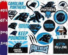 Nfl Panthers, Carolina Panthers Football, Oakland Raiders Football, Panther Logo, Sports Templates, Nfl Logo, Logo Sticker, National Football League, Personalized T Shirts