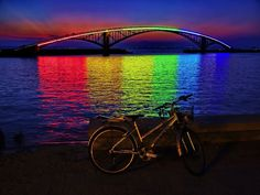 The Xiying Rainbow Bridge in Penghu, Taiwan is one such design that truly shines, both literally and figuratively. At night, this walkway transforms into more than your average overpass. Neon lights affixed to the side of the bridge illuminate the water, below, following a rainbow's spectrum of colors. The remarkable sight is truly breathtaking.