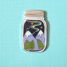 Winter Adventure Jar Enamel Lapel Pin