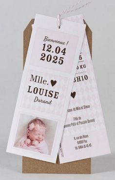 b56cc1169bdc5 Faire-part naissance marque-page rose sur fond kraft Buromac Baby Folly  589.068.