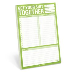 Get Your Shit Together Pad by Knock Knock
