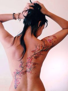 Cherry blossom Tattoo back ink sakura