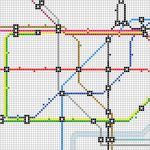 Cross stitch London tube map.  I'd love to do one of the BART map.