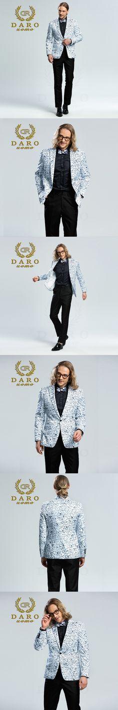 DARO 2018  Men's Printed Blazer casual Slim Fit  Suit Jacket Men Spring Autumn Trend Blazer Fashion Luxury Blazer Hombre DRJ8205