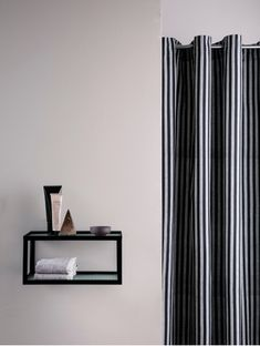 Chambray Shower Curtain - Striped