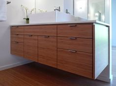 Midcentury modern eichler bathroom featuring heath tile for Mid century modern bathroom vanity ideas