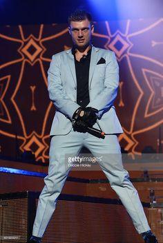 Nick Carter of Backstreet Boys perform at 02 on April 1, 2014 in Dublin, Ireland.