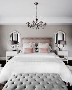 love the glam decor style -- nice use of neutrals / colors to make this look more mature, less sorority