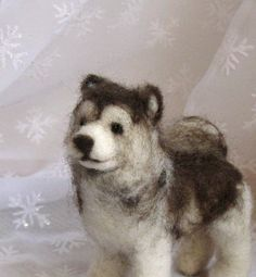 Needle Felted Dog - Needle Felted Sculpture of Your Dog.
