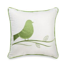 "Chubby Bird 20"" Square Decorative Toss Pillow"
