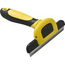 MIU COLOR® Pet Deshedding Tool & Grooming Tool for Small, Medium & Large Dogs + Cats, with Short Hair and Long Hair Dogs & Cats (Size: Large with 4-Inch Edge)(Yellow)