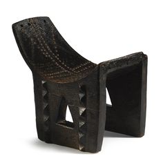 Africa | Chair from the Ngombe people of the Democratic Republic of Congo.