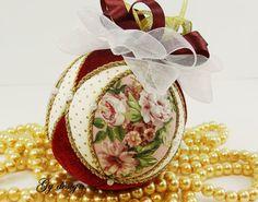 Kimekomi de romántico árbol de Navidad adornos Navidad por Gydesi