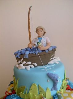 Blue Marlin Cake under the sea cakes Pinterest Blue marlin