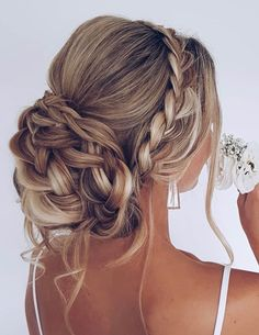 Hairdo Wedding, Beach Wedding Hair, Wedding Hair Pictures, Wedding Nails, Wedding Hair And Makeup, Prom Hair Updo, Braid Hair, Oscar Hairstyles, Teenage Hairstyles