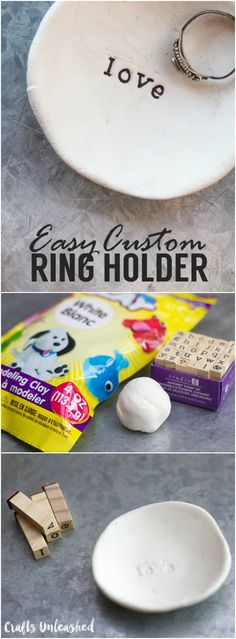 Make a custom DIY ring holder with only two supplies!