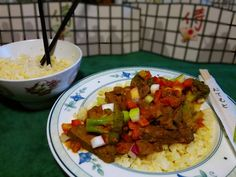 """Sweet and Sour Beef over """"rice"""""""