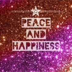 Paz y felicidad.