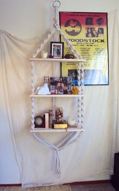 Hanging Shelf // Hippy Home by thethrowbackdaze on Etsy, $175.00