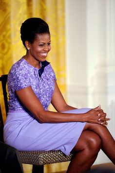 First lady Michelle Obama spoke during an event celebrating women in the military in the East Room of the White House in Washington, D.C., November 18, 2009.