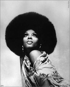 1970 Diana Ross • Years 70's vintage afro fashion music show