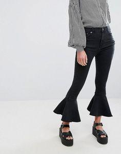 Pull&Bear Frill Bottom Jean