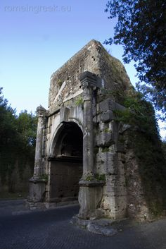 Arco di Druso, an ancient arch in Rome, Italy, close to the First Mile of the Appian Way and next to the Porta San Sebastiano. Appian Way, Travel Pictures, Travel Pics, Landscape Structure, Rome Travel, Ancient Rome, Rome Italy, Abandoned, Scenery